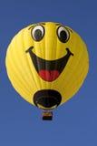 Aerostato di aria calda felice del fronte Fotografia Stock
