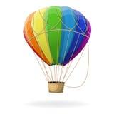 Aerostato di aria calda nei colori del Rainbow Fotografia Stock Libera da Diritti