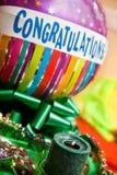 Aerostato di congratulazioni Fotografia Stock