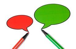 Aerostato di discorso di conversazione in bianco Immagine Stock Libera da Diritti