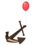 Aerostato ed ancoraggio. Fotografia Stock