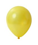 Aerostato giallo con il percorso fotografie stock libere da diritti