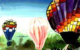 Aerostato, mosca e romantico Immagini Stock Libere da Diritti