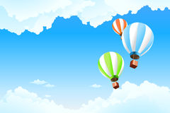 Aerostato nel cielo Fotografie Stock