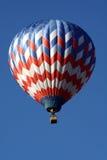 Aerostato rosso, bianco e blu Fotografia Stock Libera da Diritti