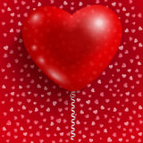 Aerostato rosso sotto forma di cuore Fotografia Stock Libera da Diritti