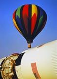 Aerostato sopra la NASA Immagine Stock