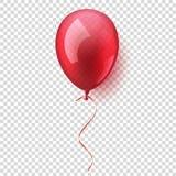 Aerostato volante lucido variopinto realistico isolato Festa di compleanno Nastro celebrazione Nozze o anniversario Vettore illustrazione vettoriale