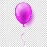 Aerostato volante lucido variopinto realistico isolato Festa di compleanno Nastro celebrazione Nozze o anniversario Vettore royalty illustrazione gratis
