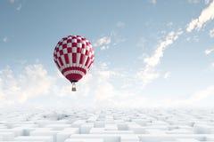 Aerostatos en cielo Foto de archivo libre de regalías
