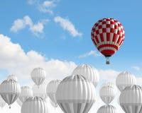 Aerostats i himmel Royaltyfri Foto
