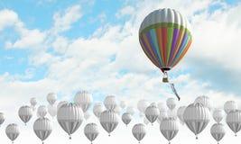 Aerostats no céu Imagens de Stock Royalty Free