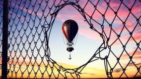 Aerostats que voam altamente Meios mistos Fotos de Stock