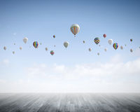 Aerostats in sky Royalty Free Stock Image
