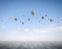 Aerostats in sky Royalty Free Stock Photos