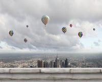 Aerostats in sky Royalty Free Stock Photo