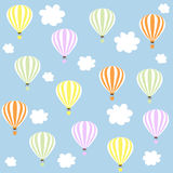 Aerostats in sky. pattern Stock Images