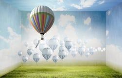 Aerostaty w niebie Zdjęcia Royalty Free
