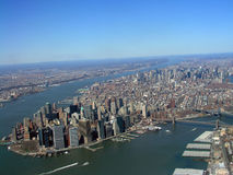 aeroview Manhattan Obraz Stock