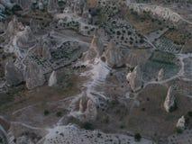 Aeroview su Cappadocia Fotografia Stock Libera da Diritti