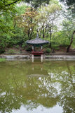 Aeryeonji-Teich am Changdeokgungs-Palast in Seoul Lizenzfreies Stockbild