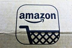 01/14/2018 - Aerzen/Alemanha - uma imagem do conceito de um logotipo da prima das Amazonas Imagens de Stock Royalty Free