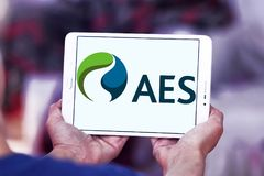 AES energy corporation logo. Logo of AES energy corporation on samsung tablet . The AES Corporation is a Fortune 200 company that generates and distributes Royalty Free Stock Photography
