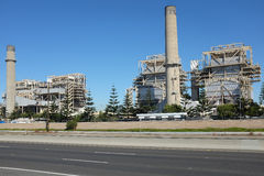 AES Power Plant. HUNTINGTON BEACH, CA - NOVEMBER 6, 2014: The AES Power Plant on Pacific Coast Highway. The natural gas plant produces electricity for more than Stock Images