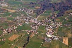 Aesch小行政区卢赛恩琉森瑞士鸟瞰图摄影 库存图片