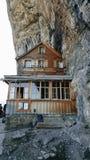 Aescher fristad i Schweiz Royaltyfria Bilder