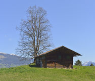 从Aeschiried的老农厂房子 免版税图库摄影