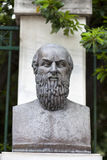 Aeschylus雕象在雅典希腊 免版税图库摄影