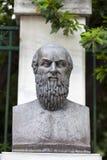 Aeschylus Statue på Aten Grekland Royaltyfri Fotografi
