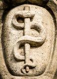 Aesculapian personal - Caduceus arkivfoto