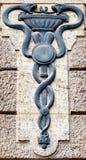 Aesculapian personal - Caduceus arkivbild