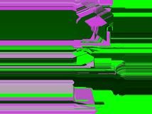 Neon pink and green digital paint, glitch effect stock illustration