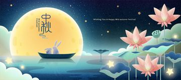 Free Aesthetic Mid-autumn Festival Stock Images - 156715154