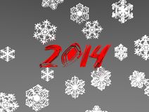 Aesthetic new year. 3d illustration of aesthetic number red of the new year Royalty Free Stock Image