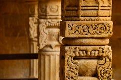 Aesthetic pillar. An artistic pillar in a temple in western india Royalty Free Stock Photos