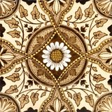 Aesthetic Tile. An original Victorian aesthetic period tile c1880 Stock Photo