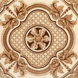 Aesthetic Tile. Aesthetic brown & cream tile dating around circa 1880 Royalty Free Stock Images