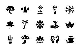 Nature Glyph Icons Collection vector illustration