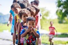 The Aeta tribe children near Mount Pinatubo on Aug 27, 2017 in S Stock Photo
