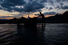 Aetas nahe Pinatubo in den Philippinen Lizenzfreie Stockfotografie