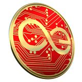 Aeternity AE coin 3d render Royalty Free Stock Photos