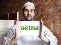 Aetna health care company logo Royalty Free Stock Photo