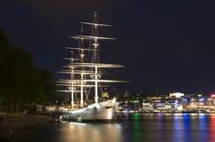 Af-ambulanter Händler nachts Stockfotografie