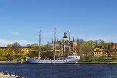 Af-ambulanter Händler (Schiff) in Stockholm Stockbild