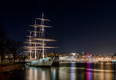 Af Chapman, a beautiful old sailing ship now a hostel Stock Photos