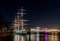 Af Chapman, een mooi oud varend schip nu een herberg Stock Foto's